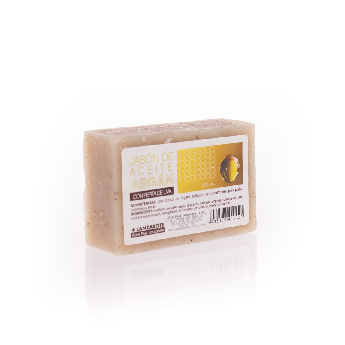 HANDMADE ARGAN OIL AND GRAPE SEED SOAP 100 gr