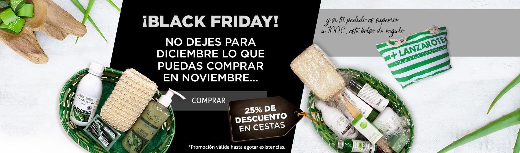 ¡El Black Friday está aquí! 25% en cestas + bolso regalo.