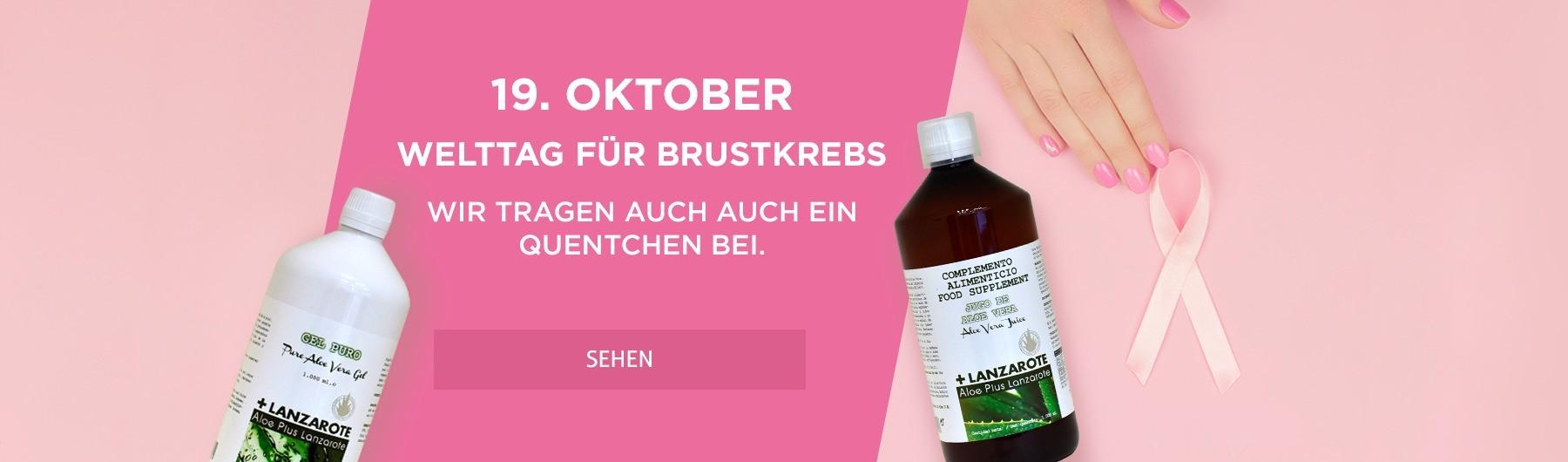 19. Oktober – Welttag für Brustkrebs