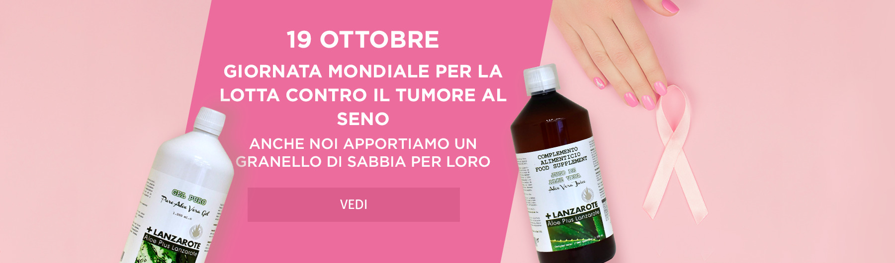 19 ottobre – Giornata Mondiale per la Lotta contro il Tumore al Seno