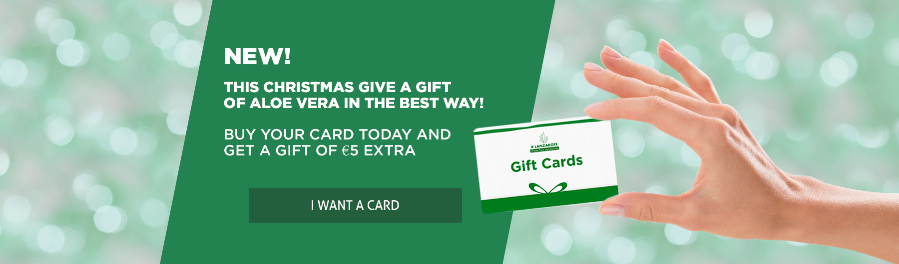 New! We have GIFT CARDS available for your loved ones.